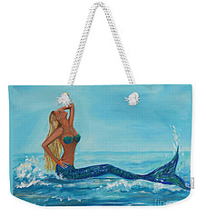 Sunbathing Mermaid Weekender Tote Bag
