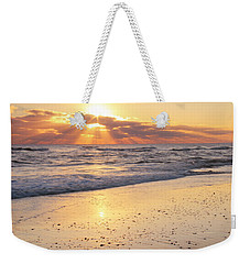 Weekender Tote Bag featuring the photograph Sunbeams On The Beach by Roupen  Baker