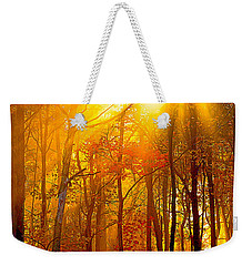 Sunburst In The Forest Weekender Tote Bag