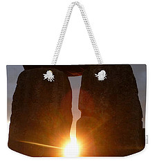 Weekender Tote Bag featuring the photograph Sunburst by Vicki Spindler