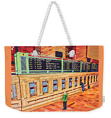 Sunday Am At Grand Central Weekender Tote Bag