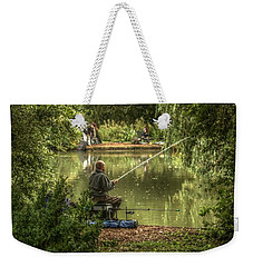 Sunday Fishing At The Lake Weekender Tote Bag
