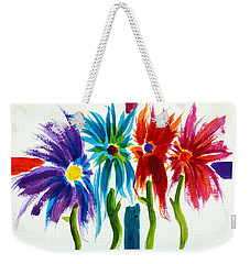 Weekender Tote Bag featuring the painting Sunday Morning 2 by Frank Bright