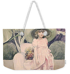 Weekender Tote Bag featuring the painting Sunday Morning by Marina Gnetetsky