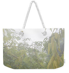 Weekender Tote Bag featuring the photograph Sunday Street Fog by Vicki Ferrari