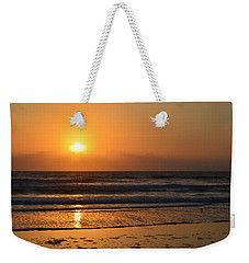 Weekender Tote Bag featuring the photograph Sundays Golden Sunrise by DigiArt Diaries by Vicky B Fuller