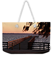 Sundown At Shands Dock Weekender Tote Bag