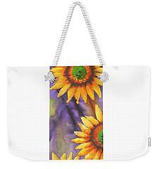 Sunflower Abstract  Weekender Tote Bag by Chrisann Ellis