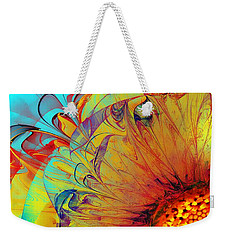 Sunflower Abstract Weekender Tote Bag by Klara Acel