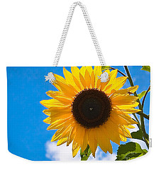 Sunflower And Bee At Work Weekender Tote Bag