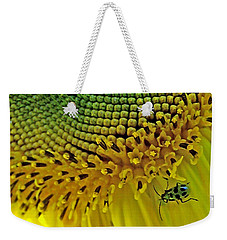 Sunflower And Beetle Weekender Tote Bag