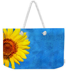 Weekender Tote Bag featuring the digital art Sunflower Art by Ann Powell