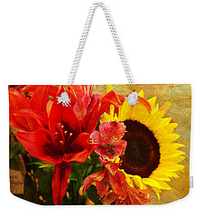 Sunflower Bouquet Weekender Tote Bag by Sandi OReilly