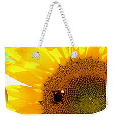 Weekender Tote Bag featuring the digital art Sunflower by Daniel Janda