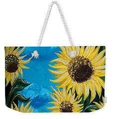 Sunflower Fun Weekender Tote Bag