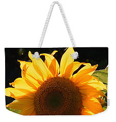 Sunflower - Golden Glory Weekender Tote Bag by Janine Riley