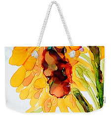 Sunflower Left Face Weekender Tote Bag