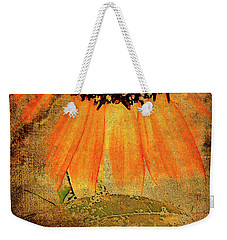 Weekender Tote Bag featuring the photograph Sunflower Montage by Kathy Bassett