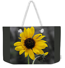 Sunflower On Gray Weekender Tote Bag