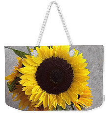 Sunflower Photo With Dry Brush Filter Weekender Tote Bag