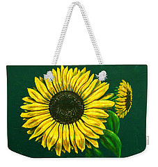 Sunflower Weekender Tote Bag by Ron Haist