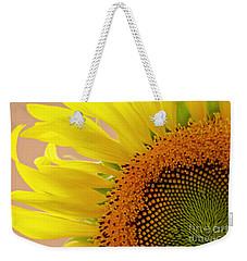 Sunflower Floral Macro Close-up Weekender Tote Bag by Carol F Austin