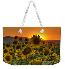 Sunflower Sun Rays Weekender Tote Bag