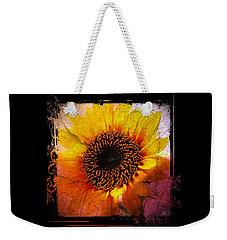 Weekender Tote Bag featuring the digital art Sunflower Sunset - Art Nouveau  by Absinthe Art By Michelle LeAnn Scott