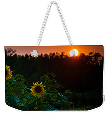 Sunflower Sunset Weekender Tote Bag by Cheryl Baxter
