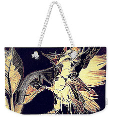 Sunflower - Tribal Harvest Weekender Tote Bag by Janine Riley