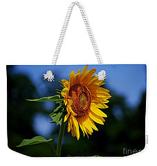 Sunflower With Honeybee Weekender Tote Bag