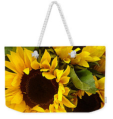 Sunflowers Weekender Tote Bag by Amy Vangsgard
