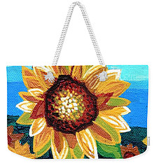 Sunflowers And Blue Sky Weekender Tote Bag by Genevieve Esson