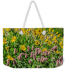 Sunflowers And Horsemint Weekender Tote Bag by Sue Smith