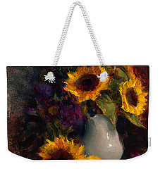 Sunflowers And Porcelain Still Life Weekender Tote Bag