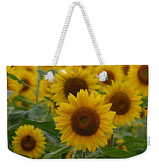 Sunflowers At The Farm Weekender Tote Bag by Denyse Duhaime