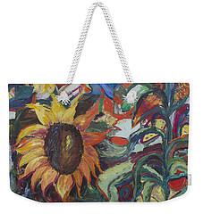Sunflowers Weekender Tote Bag by Avonelle Kelsey