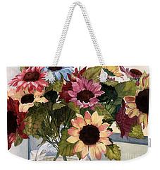 Sunflowers Weekender Tote Bag by Barbara Jewell