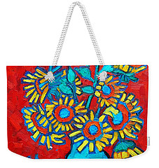 Sunflowers Bouquet Weekender Tote Bag by Ana Maria Edulescu