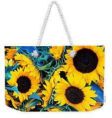 Sunflowers Weekender Tote Bag by Colleen Kammerer