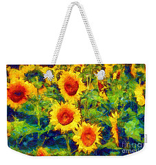 Sunflowers Dance In A Field Weekender Tote Bag