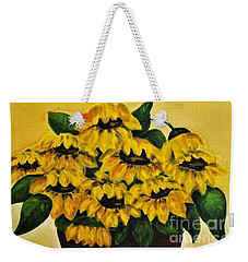 Sunflowers Day Later Weekender Tote Bag by Teresa Wegrzyn