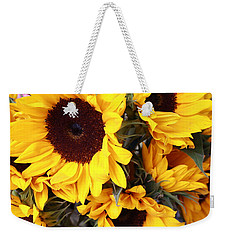 Weekender Tote Bag featuring the photograph Sunflowers by Dora Sofia Caputo Photographic Art and Design