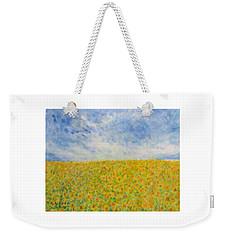 Sunflowers  Field In Texas Weekender Tote Bag