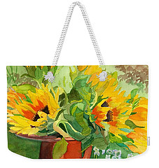 Sunflowers In Copper Weekender Tote Bag