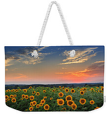 Sunflowers In The Evening Weekender Tote Bag