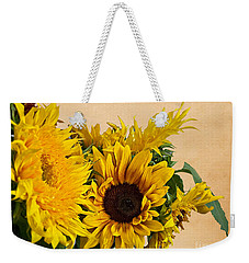 Sunflowers On Old Paper Background Art Prints Weekender Tote Bag