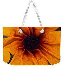 Weekender Tote Bag featuring the painting Sunflowers On Psychadelics by Omaste Witkowski