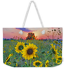 Sunflowers Sunset Weekender Tote Bag