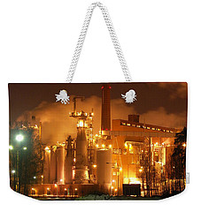 Sunila Pulp Mill By Winter Night Weekender Tote Bag